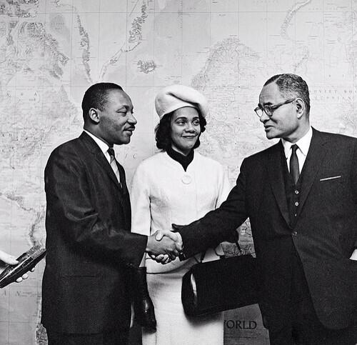 Photo of Martin Luther King Jr. visiting @UN Headquarters in #NYC in 1964. Photo via @UN_Photo. #MLKDay2014 http://t.co/13JHOM60Du