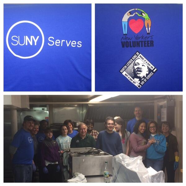 @SUNYPlattsburgh & community volunteers during #MLKDayNY at the #Plattsburgh Soup Kitchen | @SUNY @unitedwayadk http://t.co/ipurDks4YK