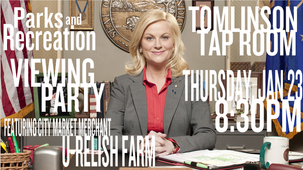 Catch @CaraDafforn on @parksandrecnbc this THURSDAY! @UplandBrewCo on special in the @TomTapRoom, too! #supportlocal http://t.co/ffMlyZ9FcR