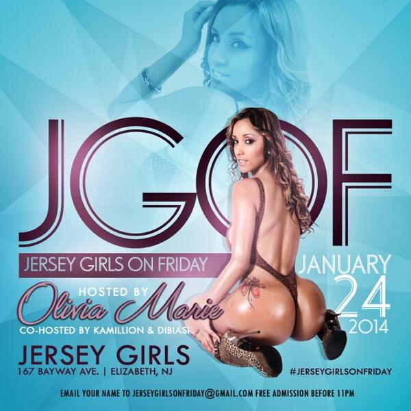 This Friday @laoliviamarie Hosts @jerseygirlsbar Along W/ @DibiasiMB & @kamillion201 Music By @djpdub201 #MMR http://t.co/YAvpVZo2gd""