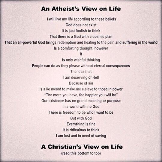 atheist's view vs. Christian's view.. I love this http://t.co/buKlCwr4d8
