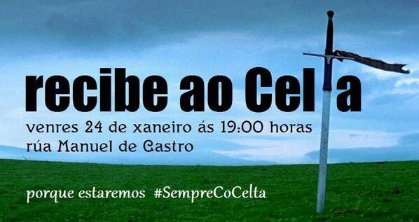 Recibimiento al equipo el próximo viernes a las 19:00.. Balaídos rugirá contra el Betis #LumeCeleste http://t.co/fRnYI6kpJ4