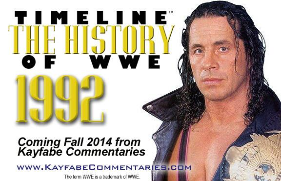 "We're thrilled to announce @BretHart will be covering the year 1992 in ""Timeline: The History of WWE"" this year! http://t.co/8W5JAtFIls"
