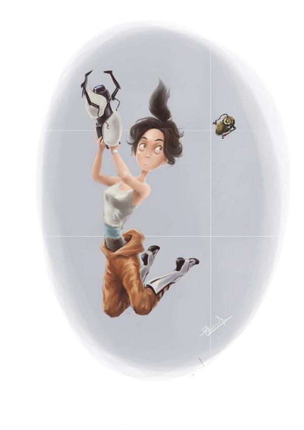 Portal 2, VideoGames, GameArt