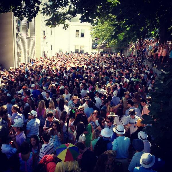 Public college party