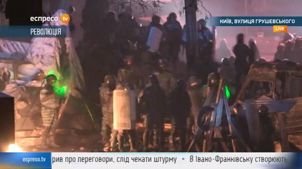 Thumbnail for EuroMaidan/Hrushevskoho Street: Polizei setzt zum Gegenangriff an