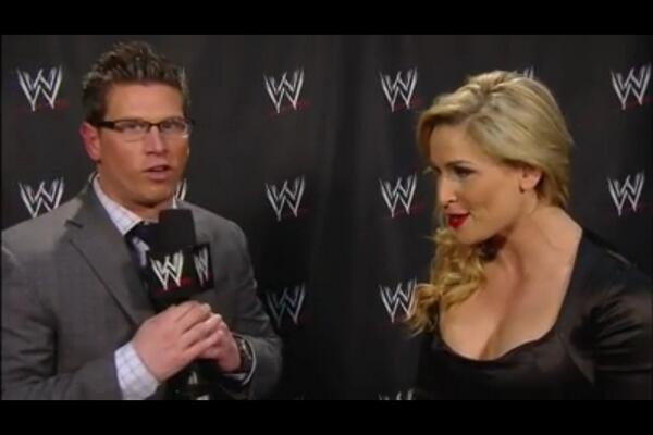 The ever so beautiful @NatbyNature on the WWE App. Let's celebrate Mae Young, indeed! #WWE #RAW http://t.co/OeUNL2oecx