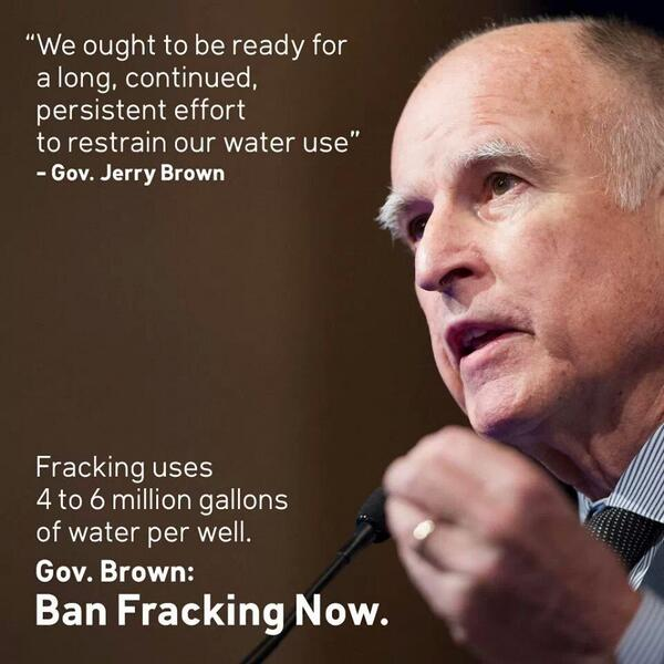 Dear @JerryBrownGov :  Please ban #fracking in #California and conserve water now! Thank you. http://t.co/siQFVVHvuv