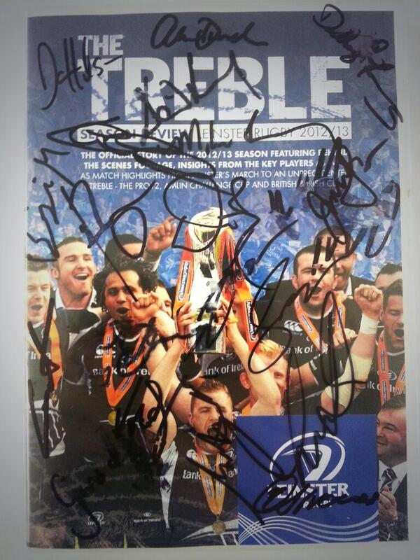 Win a copy of the Leinster Treble DVD signed by the squad! Simply RT this to be in with a chance. #LeinsterRugby http://t.co/GLzmwRTxgY