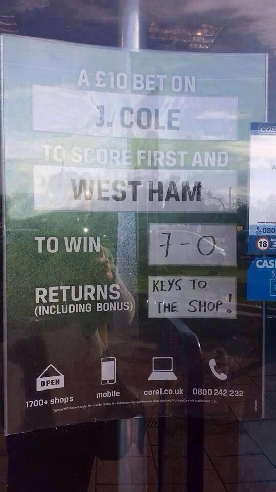 Betting shop banter http://t.co/dLMxDysg5Q