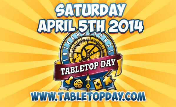 Mark your calendars!  #NationalTabletopDay http://t.co/9WmqWkPqtR http://t.co/PEmD2VZOfI
