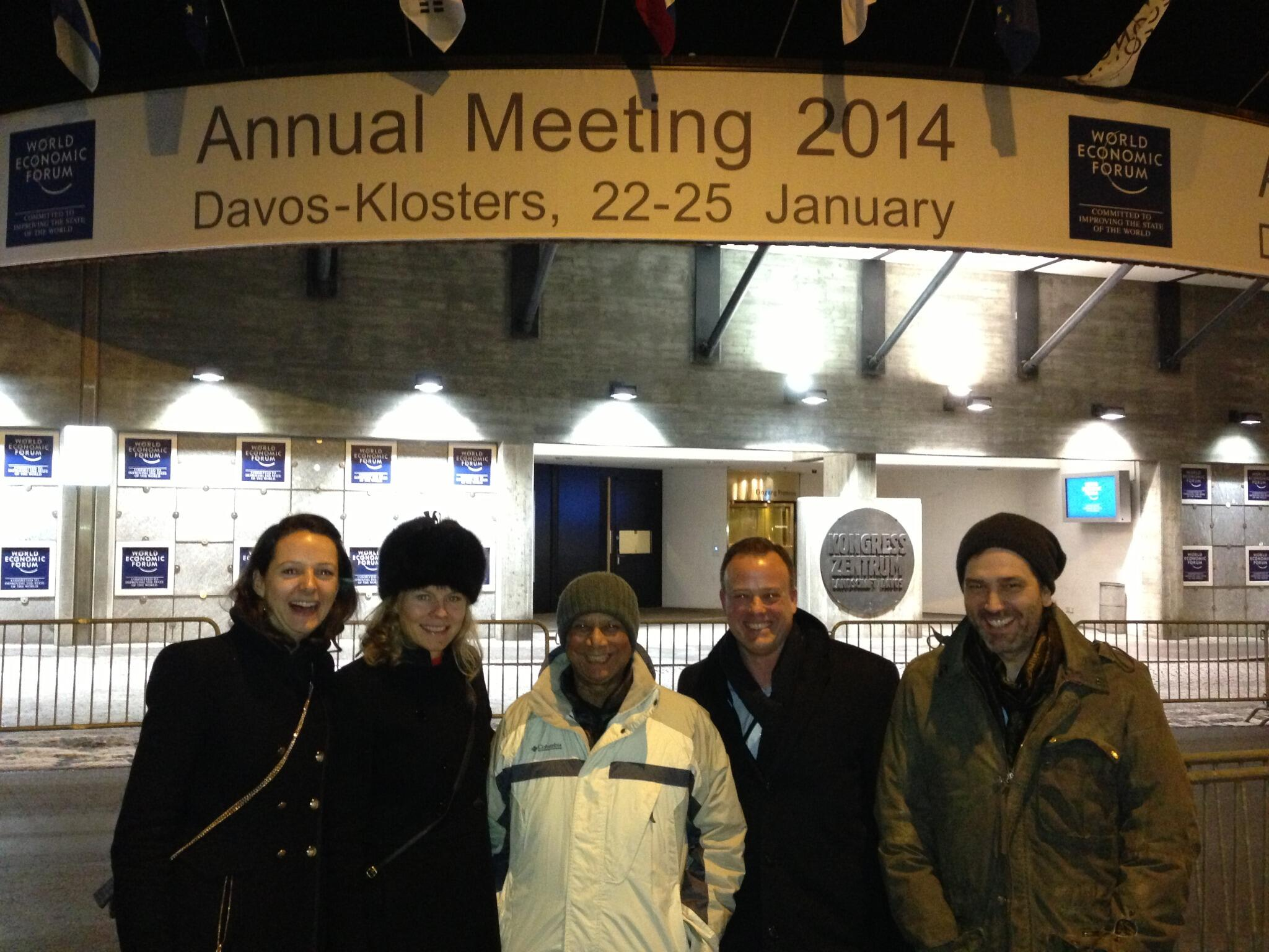 Twitter / Astro_Ron: The #YY Team @Davos @WEF w/ ...