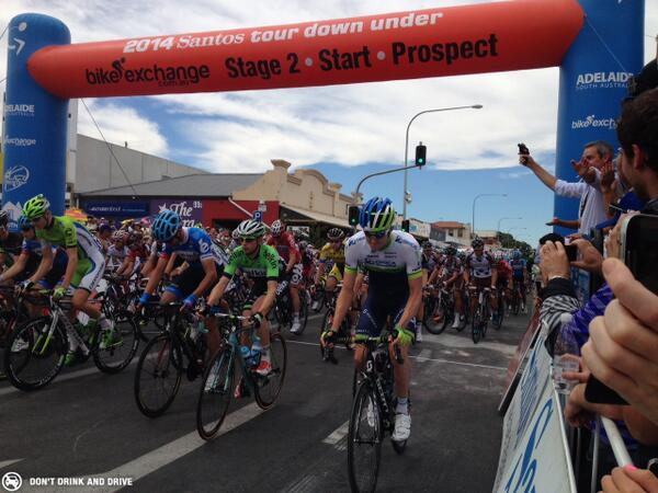 Stage 2 of @tourdownunder underway. Who do you think will take the honours today? http://t.co/eR40DhRKOj