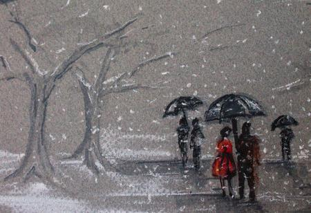 For today's snowy weather, arist Amanda Steines takes us on a walk in the park. http://t.co/fH37poFfBb #art #snow http://t.co/0OdVAmX3uE