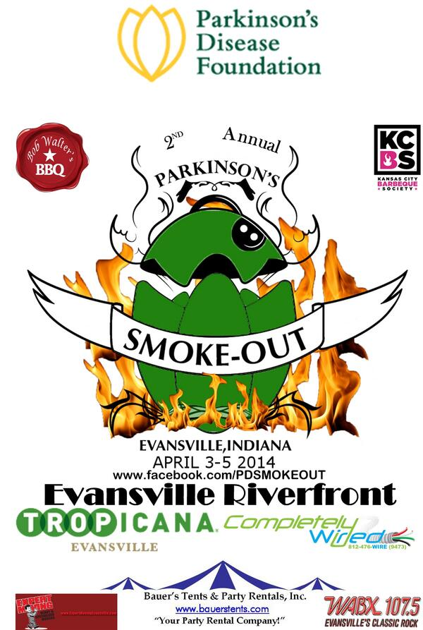 It's almost time @DowntownEvv is gearing up for the 2nd Annual Parkinson's Smoke Out. #BBQ for a good cause. http://t.co/ufs1eka8Jh