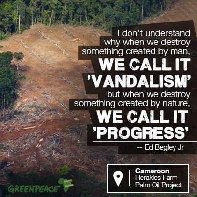 Twitter / GreenpeaceAustP: MT @Phil_Radford When we destroy ...