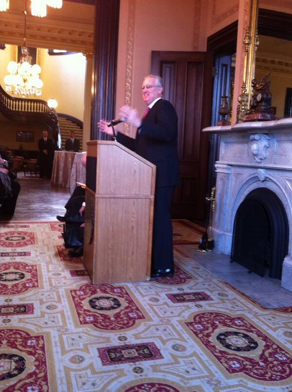 """There is no more honorable profession than being a teacher."" Governor Jay Nixon #MOSOTS http://t.co/tywlWg1PMQ"