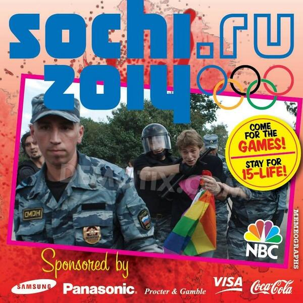 #CheersToSochi  Come to the games, say your Olympic Sponsors. Stay 15-Life http://t.co/euggQcxqHr