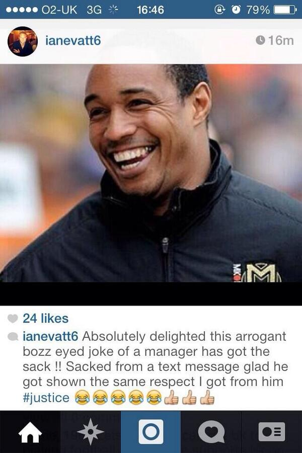 It would appear that former Blackpool defender Ian Evatt is not too devastated by Paul Ince's sacking http://t.co/3vNI2MiSro