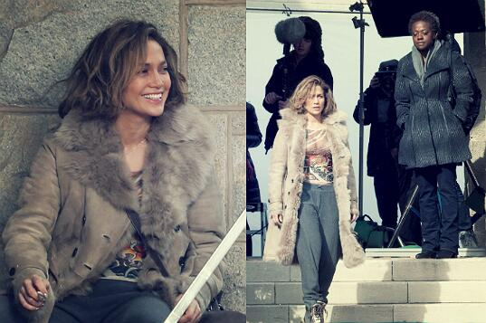 "@JLo on the set of her new movie ""Lila & Eve"" with Viola Davis! HOW EXCITING!!! http://t.co/SSOqC67MJf"