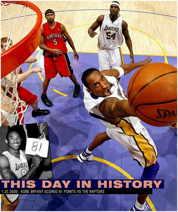 """@Ballislife: VIDEO: This Day In History (1.22.06): @KobeBryant scored 81 points http://t.co/eODJMhZRM8 http://t.co/de0gNzwwTF"""