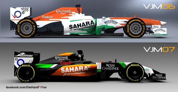 #F1 Compared : @Clubforce #VJM06 vs #VJM07 http://t.co/sap6GLtFyz