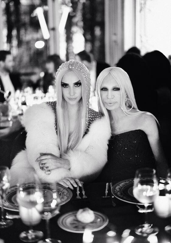 @LadyGaga and Donatella Versace at the #AtelierVersace after party dinner. Image by @RahiRezvani #VersaceLovesGaga http://t.co/0a7ey7cYM2
