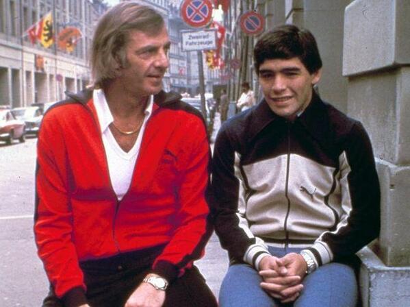 Diego junto a Menotti, previo al Mundial 1979