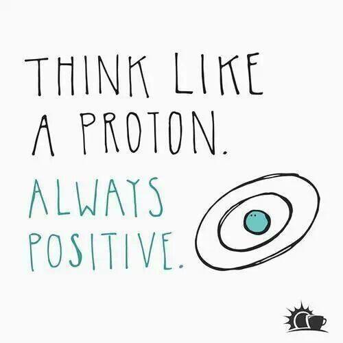Think like a proton... :) http://t.co/kPEitihaSx
