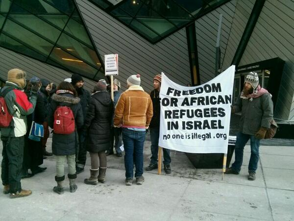 Toronto protest starting #march4freedom #freedom4refugees @Freedom4Refugee http://t.co/WShiNVTzer