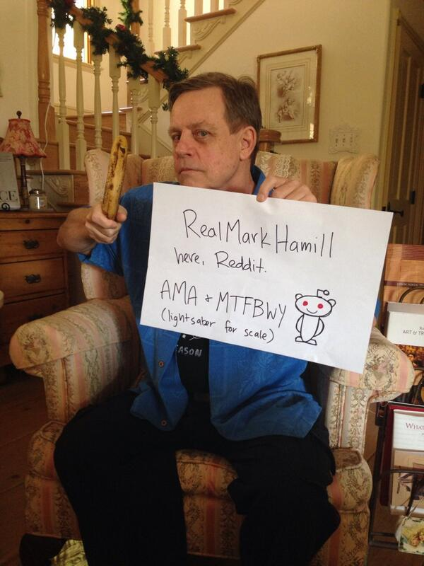"Mark Hamill on Twitter: ""About to launch @reddit ama! Can't wait ..."