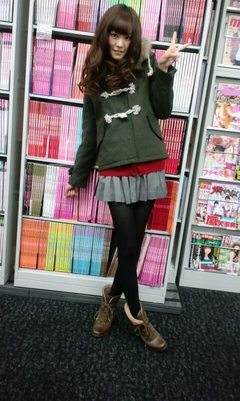冬のモテコーデの私服の桐谷美玲