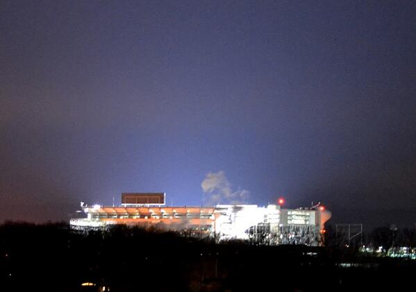 The lights are on at Beaver Stadium at #PennState. Doubt it is a coincidence. http://t.co/6GlTKgMTlj
