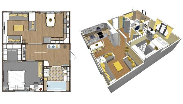 Planner 5d On Twitter Yellow Apartment Floor Plan Colorful Homedesign Http T Co Q9gkxqg6rz