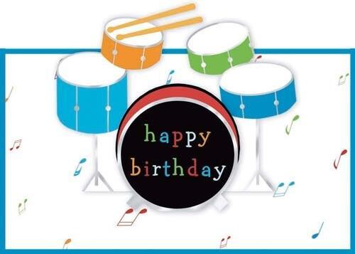 Прикольные открытки, открытка с днем рождения барабан