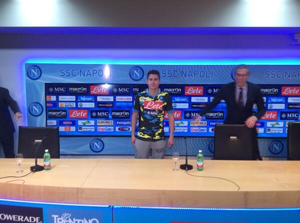 Thats so ugly! Napoli unveil new signing Jorginho in a brand new blue & yellow camouflage club shirt [Pictures]