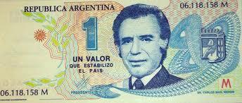 "Javier Lascano auf Twitter: ""Menem - 1 peso 1 dolar - un valor que  estabilizó al país http://t.co/dozQAMEbu1"""