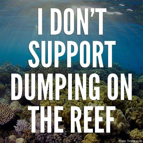 Can't make it to GBRMPA #townsville tomorrow? Show your support by changing your profile for the day :-) #savethereef http://t.co/YvwuNldmOt