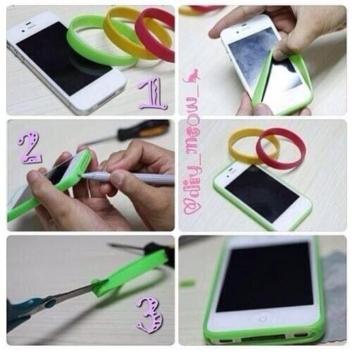 Ideas creativas on twitter como hacer un bumper para for How to make phone cases at home