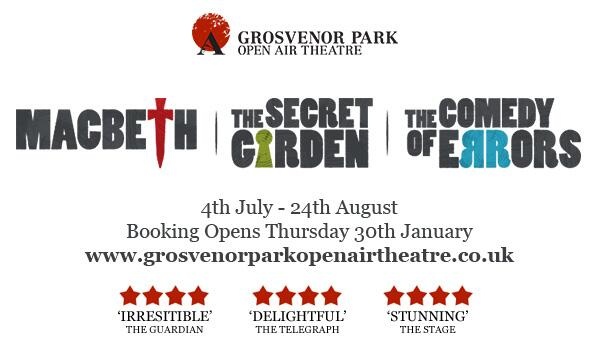 Ta Dah! This is it! Grosvenor Park Open Air Theatre 2014! http://t.co/frp1UV7chW #GrosvenorParkOpenAirTheatre http://t.co/MTuJkiaT5S
