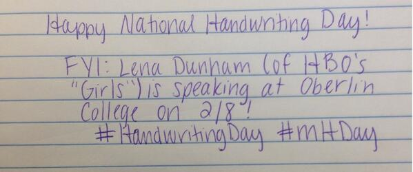 #HandwritingDay #mHDay http://t.co/VM5uYW1FBM