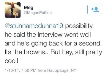 """""""It's the Browns ... But hey, still pretty cool!"""" Your new team motto, brought to you by the new coach's daughter. http://t.co/JHP40yEWb3"""