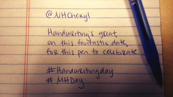 @nhcheryl #HandwritingDay #mHDay http://t.co/NhnXXQMkZ5