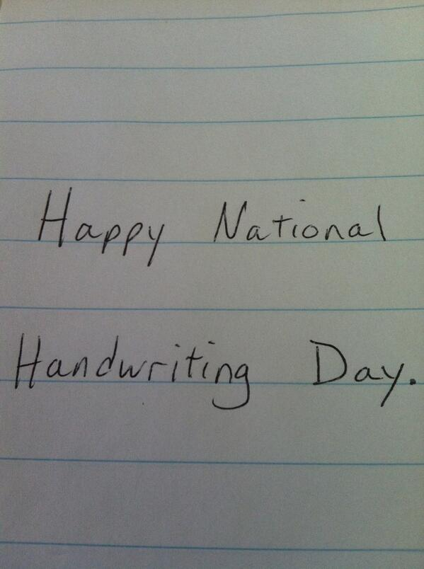 #HandwritingDay #mHDay http://t.co/0XB8wlKw7s