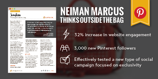 Learn how Neiman Marcus grew site engagement 32% with a Pinterest-exclusive product launch: http://t.co/k7jl6wLmFn | http://t.co/XVvUaKv6Gp