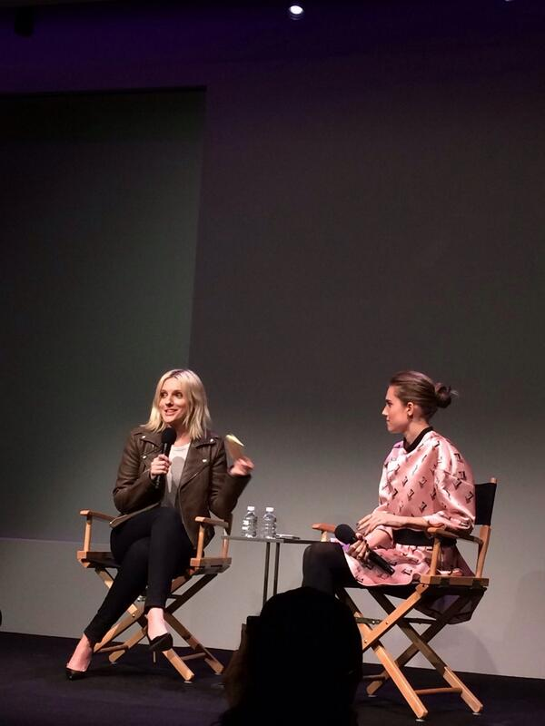 Allison Williams of @girlsHBO & @laurabrown99 chatting about the show. #nyc http://t.co/fr3T8oGZen