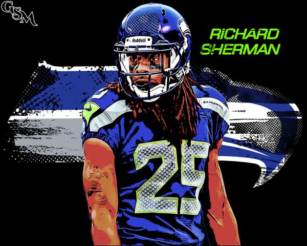 Brian Konnick On Twitter RSherman 25 Richard Sherman Vector Style Wallpaper Tco EnKbIrjLbo