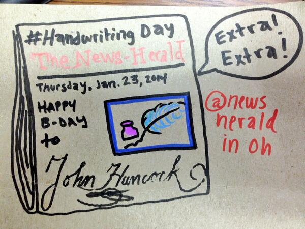 Really getting into #HandwritingDay at the @newsheraldinoh! http://t.co/GL2BShnsj0