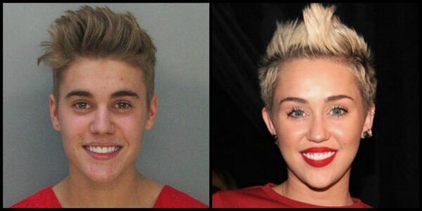Justin bieber and miley cyrus look alike Seldom