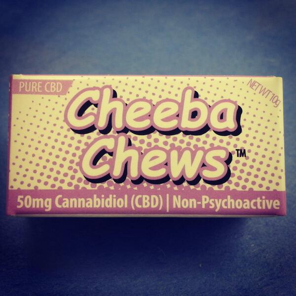 GOT CBD? Introducing the pure CBD Cheeba Chew! Contains 50mg CBD per chew! Non-psychoactive, great for pain relief! http://t.co/dwojAFoeOL